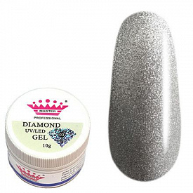 Гель Master Diamond Uv Led Gel Серебро, 5 г